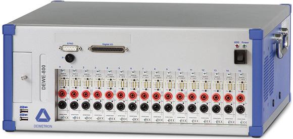 DEWE-800 data acquisition instrument for laboratory measurements