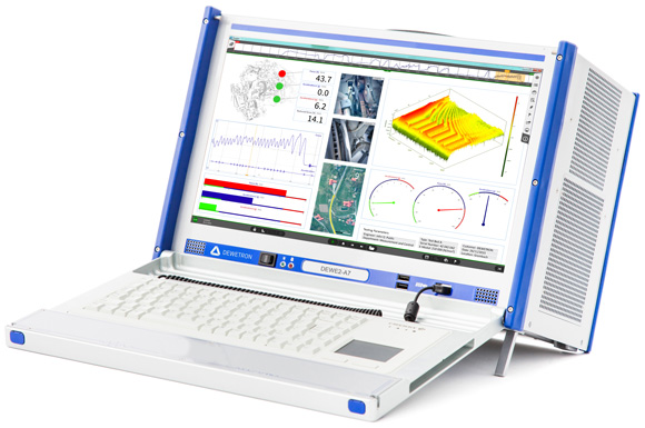 DEWE2-A7 universal all-in-one data acquisition instrument with display
