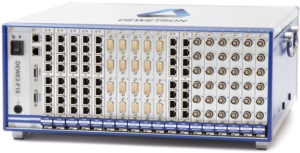 DEWE2-F18 front-end data acquisition system with 108 channels