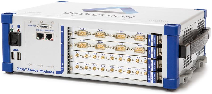 DEWE2-M4 portable data acquisition instrument