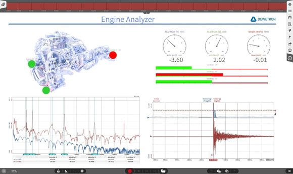 Data acquisition software OXYGEN - engine analyzer