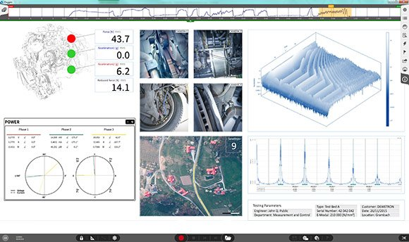Data acquisition software OXYGEN for multiple inputs - all synchronized