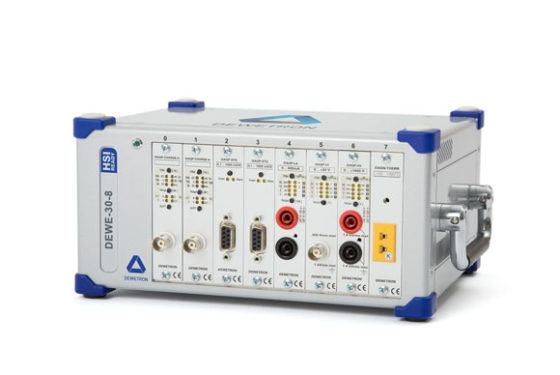 DEWE-30 is an external standalone signal chassis for isolated amplifiers