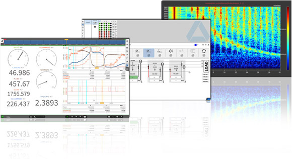 Screens of DEWETRON's measurement software OXYGEN