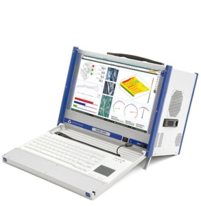 DEWE-2600 portable measurement system with display