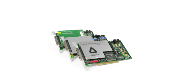Internal DAQ components: DEWE-ORION AD boards, interface cards