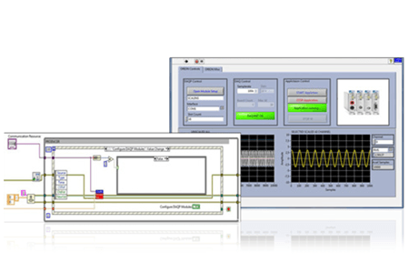 LabVIEW software can be used with DEWETRON measurement systems