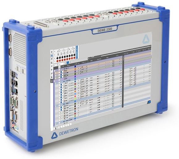 DEWE-3300 measurement systems with measurement software OXYGEN with power analysis software option for power calculations
