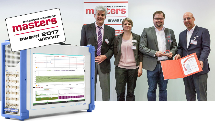 MessTec & Sensor Masters Award 2017: DEWETRON Mixed Signal Power Analyzer and Michael Wellmann from DEWETRON