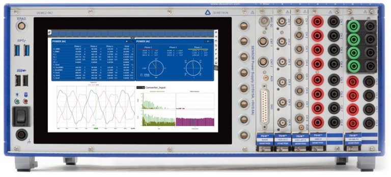 Power Analysis with Precision mixed signal and multi power analyzer DEWE2-PA7