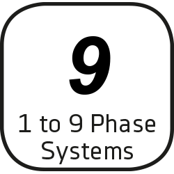 Icon for 1 to 9 Phase Systems