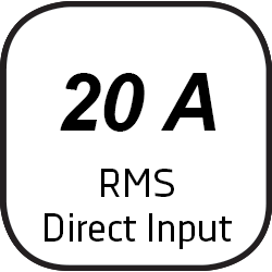 Icon for direct input with 24 ampere