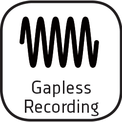Icon gapless recording