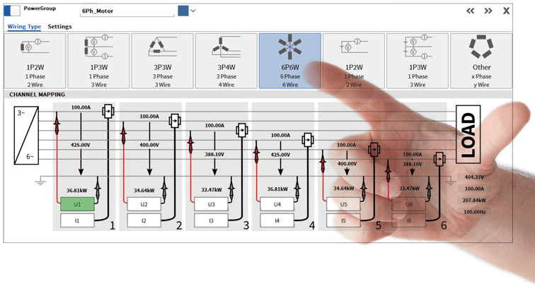 high resolution screen of power group with multi-touch operation