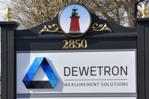 New sign for DEWETRON office in East Greenwich