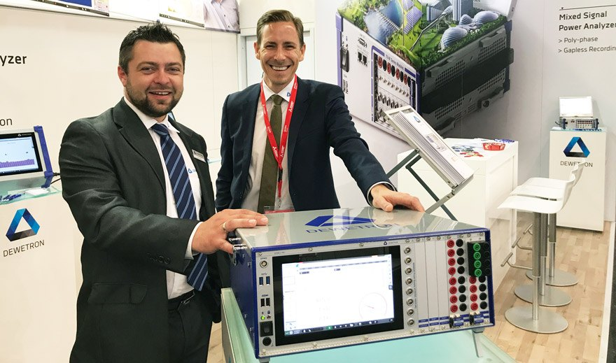 New DEWE2-PA7 Power Analyzer at last Testing Expo