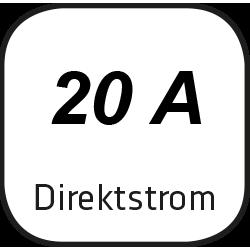 Icon für 20 Ampere Direktstrom beim DEWE2-PA7