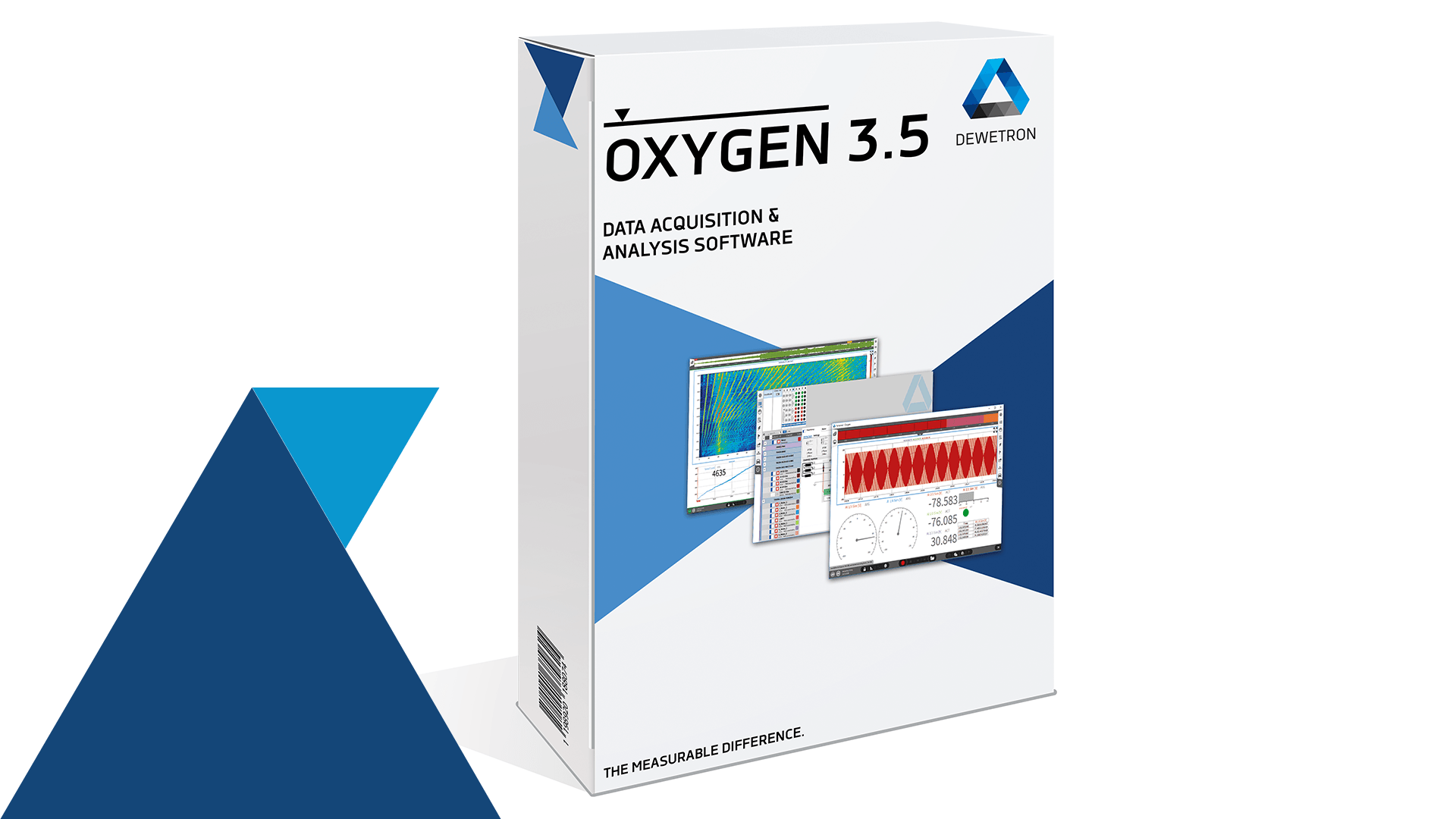 A package of the new OXYGEN 3.5. software which enables synchronous data acquisition