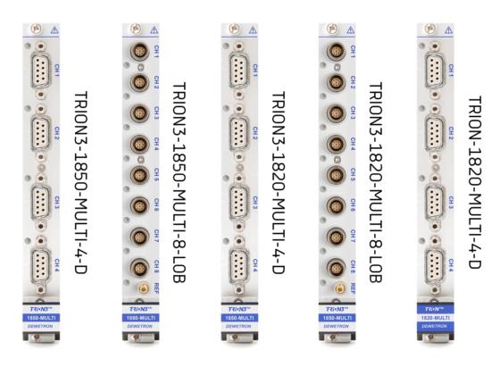 Multi-functional TRION-MULTI modules