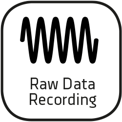 Icon raw data recording