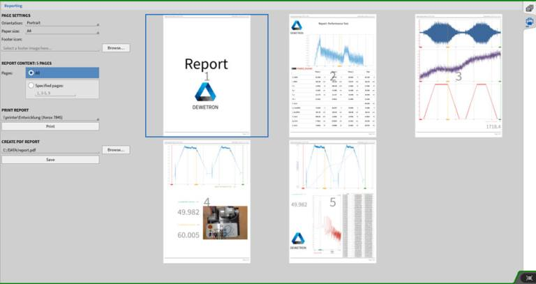 OXYGEN Reporting Features for simple and easy Printing