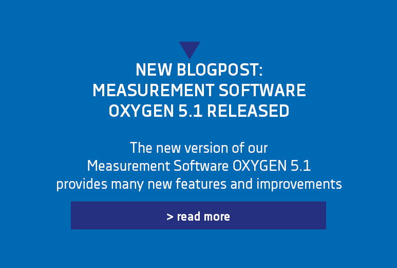 Banner for the new Release of Measurement Software OXYGEN - OXYGEN5.1