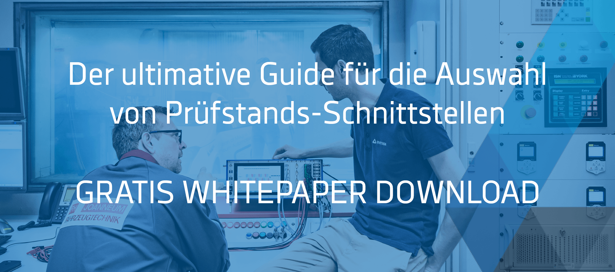 Prüfstands-Schnittstellen Whitepaper Banner