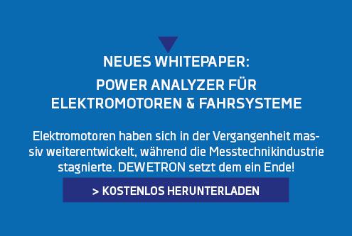 Banner für das Whitepaper mit dem Thema Power Analyzer für Elektromotoren