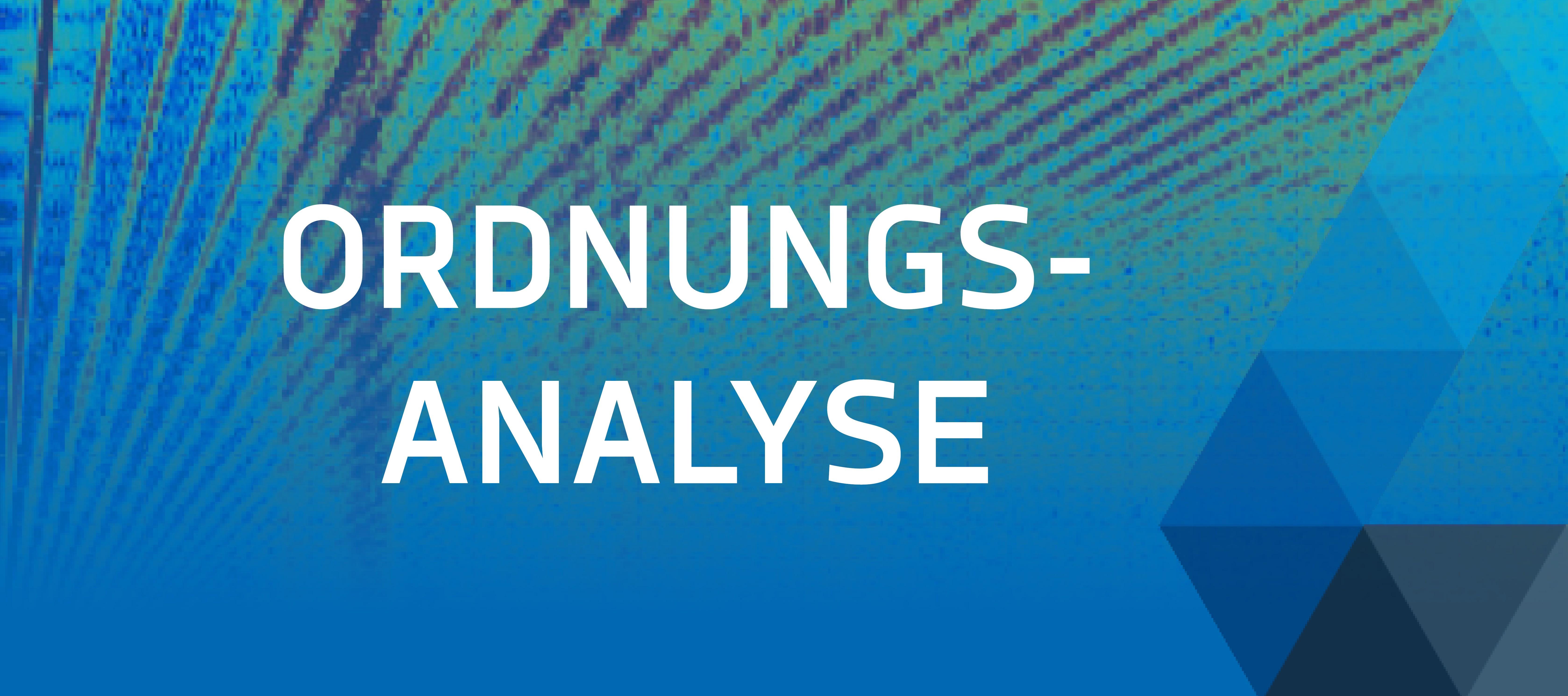 Ordnungsanalyse mit DEWETRON Banner