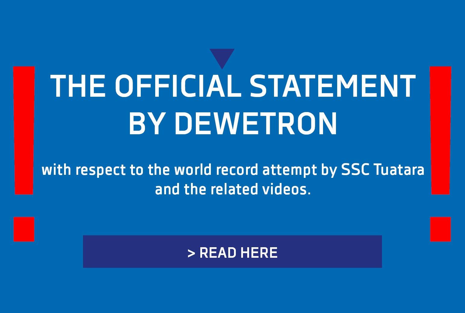 Press release DEWETRON SSC Tuatara world record attempt