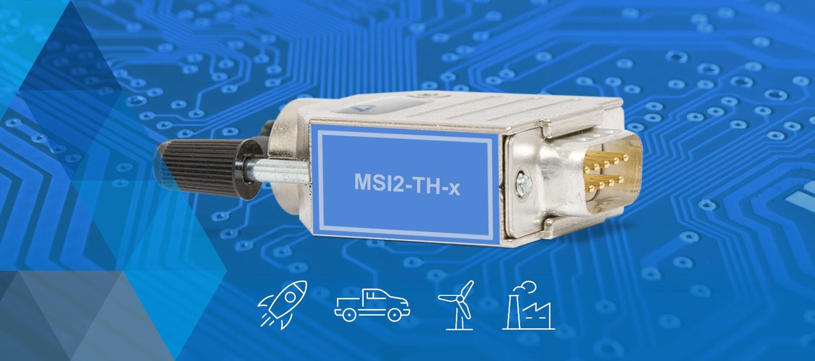 Banner für DEWETRONs Modular Smart Interface (MSI) MSI2-TH-x