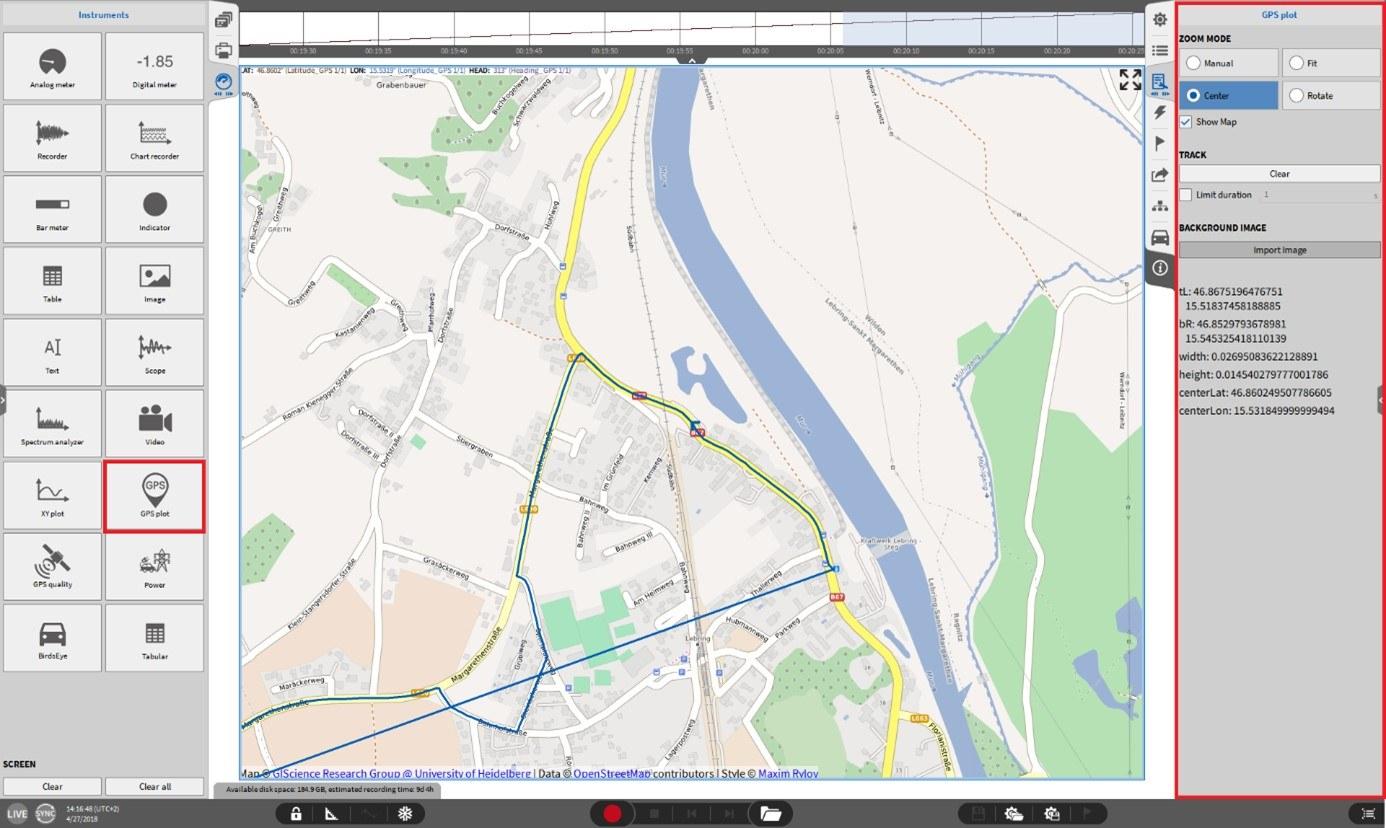 GPS-Anzeige