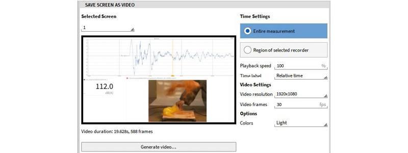 Wie man einen Messbildschirm in einem Video speichert in OXYGEN 5.5