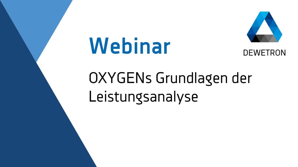 OXYGEN Grundlagen der Leistungsanalyse - Power Basic Webinar