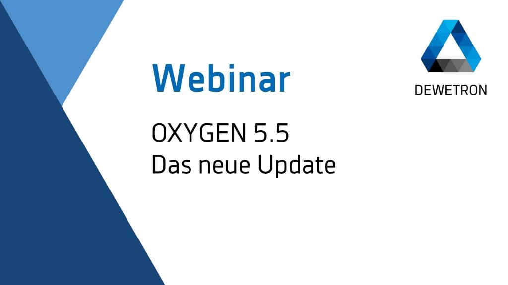 OXYGEN 5.5 Webinar Banner