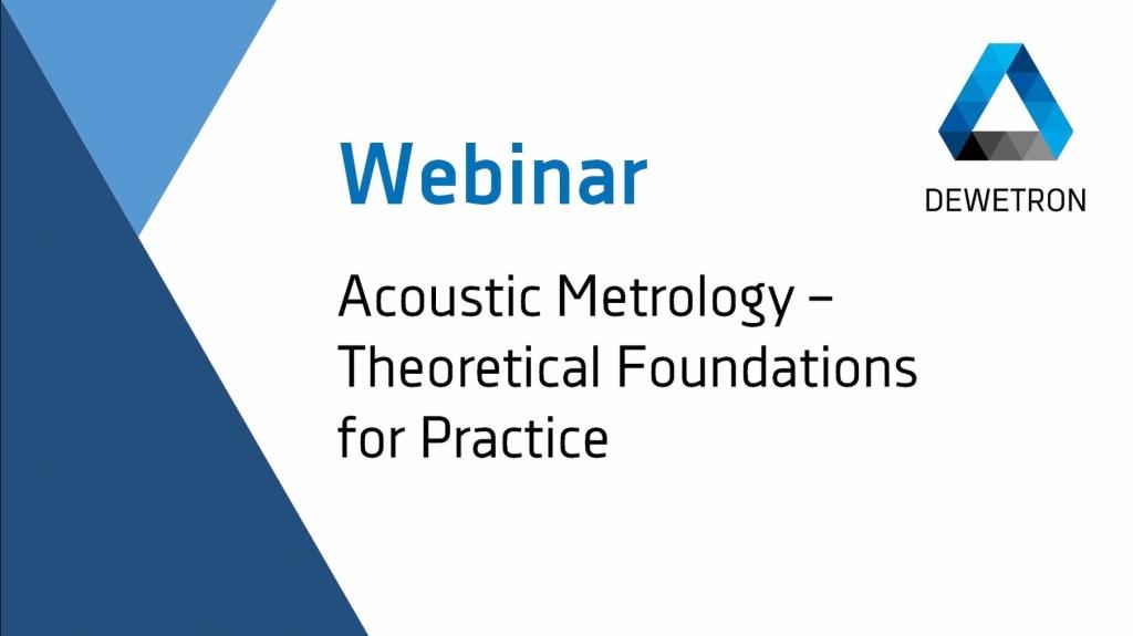 Webinar Banner: Acoustic Metrology
