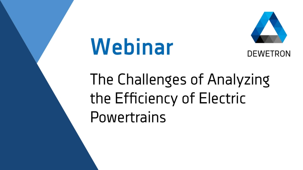 The Challenges of Analyzing the Efficiency of Electric Power Trains