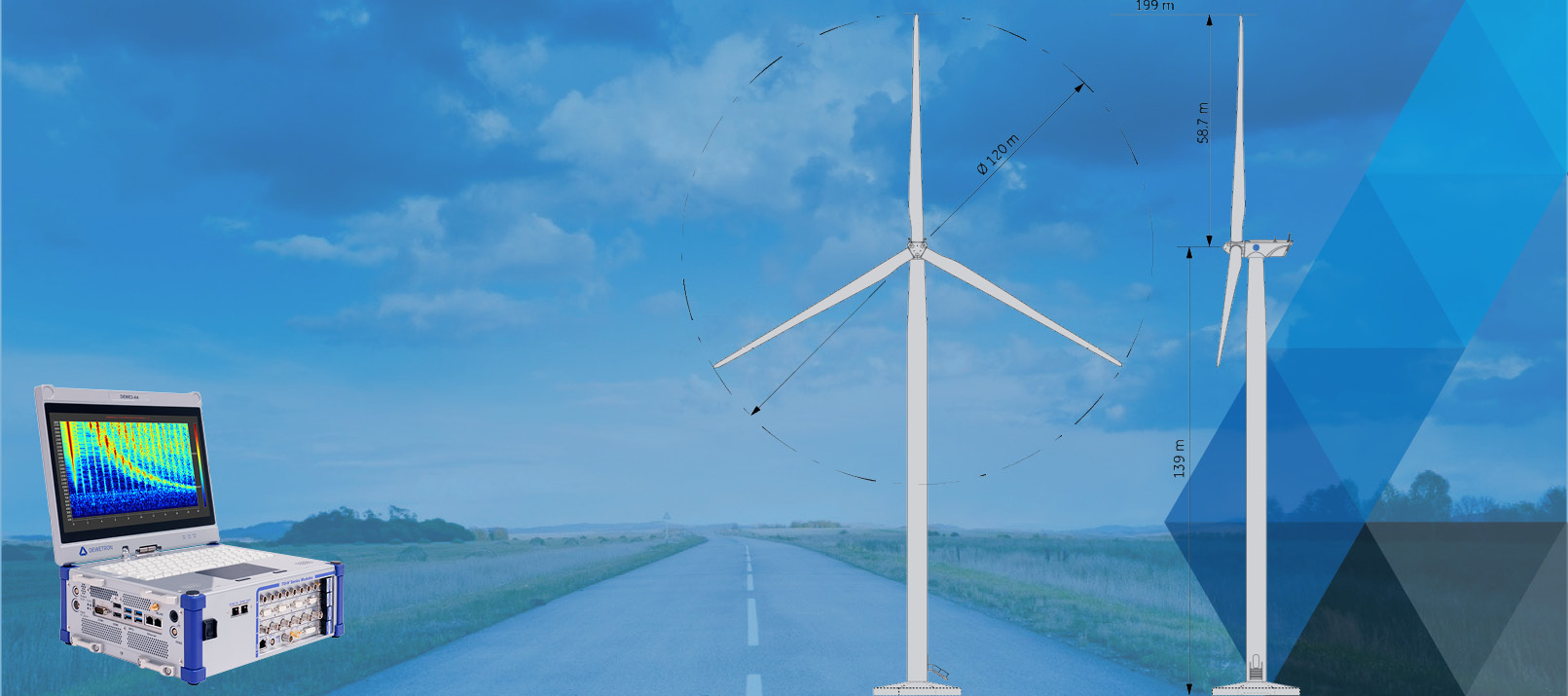 Wind Turbine Testing with DEWETRON measurement system